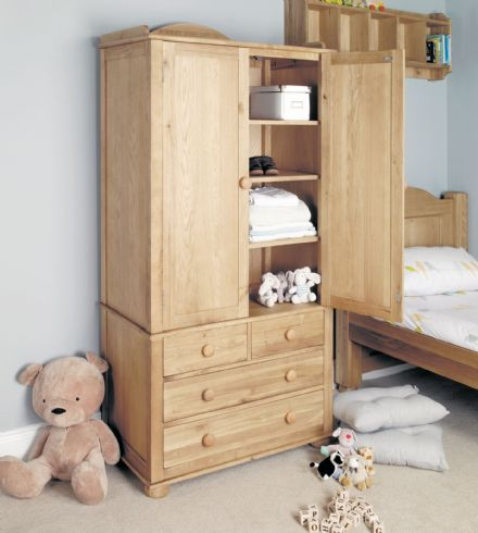 Amelie Oak Childrens Double Wardrobe